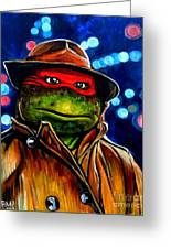 Raphael Ninja Turtle Greeting Card