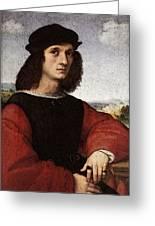 Raphael Portrait Of Agnolo Doni Greeting Card