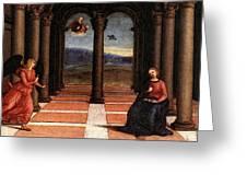 Raphael The Annunciation  Oddi Altar Predella  Greeting Card