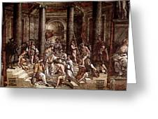 Raphael The Baptism Of Constantine Greeting Card