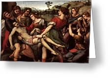 Raphael The Entombment Greeting Card