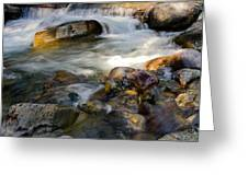 Rapids And Boulders Greeting Card