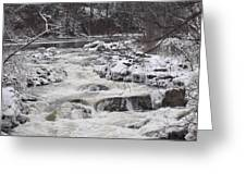 Rapids At Bull's Bridge 1 Greeting Card