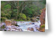 Rapids At The Rivers Bend Greeting Card