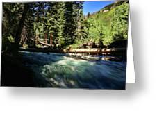Rapids Near Maroon Bells Greeting Card