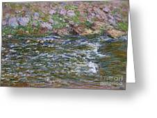 Rapids On The Petite Creuse At Fresselines, 1889 Greeting Card