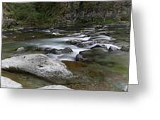 Rapids On The Washougal River Greeting Card