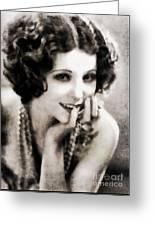 Raquel Torres, Vintage Actress Greeting Card