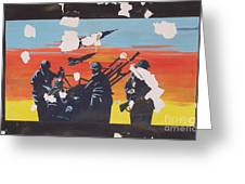 The Colour Of War Greeting Card