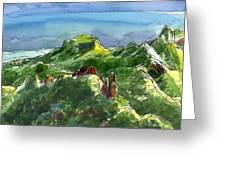 Rarotonga, Te Kou Mountain View Greeting Card by Judith Kunzle