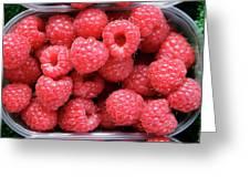 Rasberries Market Bergen Greeting Card