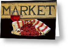 Raspberries At The Market Greeting Card