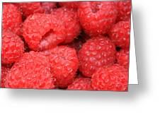 Raspberries Close-up Greeting Card