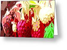 Raspberry Bush Greeting Card