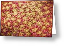 Raspberry Circles Greeting Card