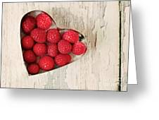 Raspberry Heart Greeting Card by Kim Fearheiley