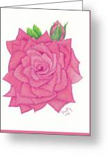 Raspberry Pink Greeting Card