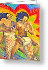 Rasta Rythm Greeting Card
