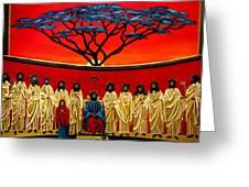Rastafarian Last Supper Greeting Card by EJ Lefavour