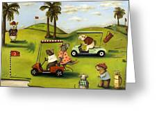 Rat Race 2  At The Golf Course Greeting Card