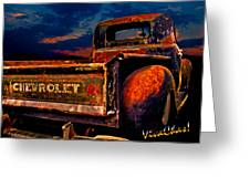 Rat Rod Chevy Truck Greeting Card