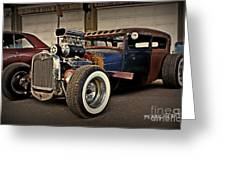 Rat Rod Scene Greeting Card