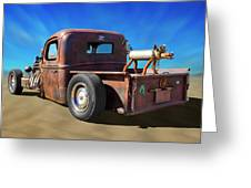 Rat Truck On Beach 2 Greeting Card
