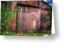 Rats Castle Farm Barn Door Greeting Card