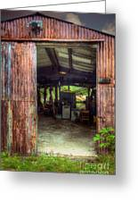 Rats Castle Farm Machinery Shed Greeting Card