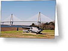 Ravanel Bridge From The Patriot Point Greeting Card