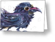 Raven 3 Greeting Card
