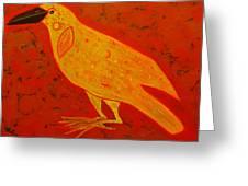 Raven Close Up Greeting Card