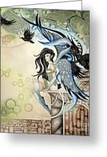 Raven Faery Greeting Card