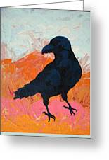 Raven I Greeting Card
