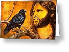 Raven Greeting Card by Igor Postash