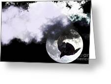 Raven Moon Greeting Card
