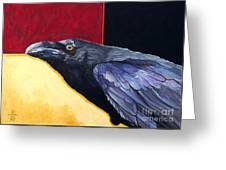 Raven Of The Tomorrow Wings Greeting Card