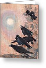 Raven Party Greeting Card