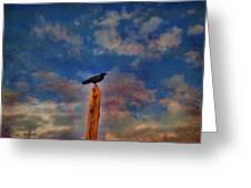 Raven Pole Greeting Card