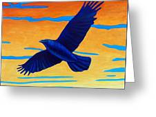 Raven Rising Greeting Card
