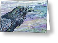 Raven Study 4 Greeting Card