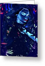Raven Woman Greeting Card