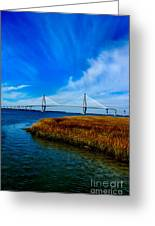 Ravenal Bridge Charleston South Carolina Greeting Card