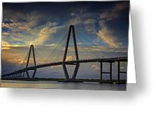 Ravenel Bridge Sunset Greeting Card