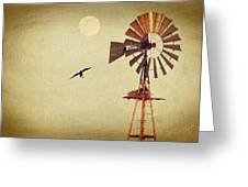 Ravens Under The Moon Greeting Card