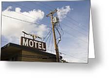 Rawhide Motel Greeting Card