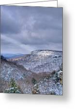 Ray Of Light On Mountain Greeting Card