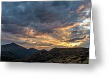 Rays Above Tecate Peak Greeting Card