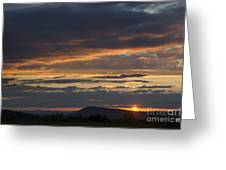 Rays At Sunset Greeting Card