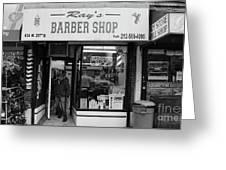 Ray's Barbershop Greeting Card